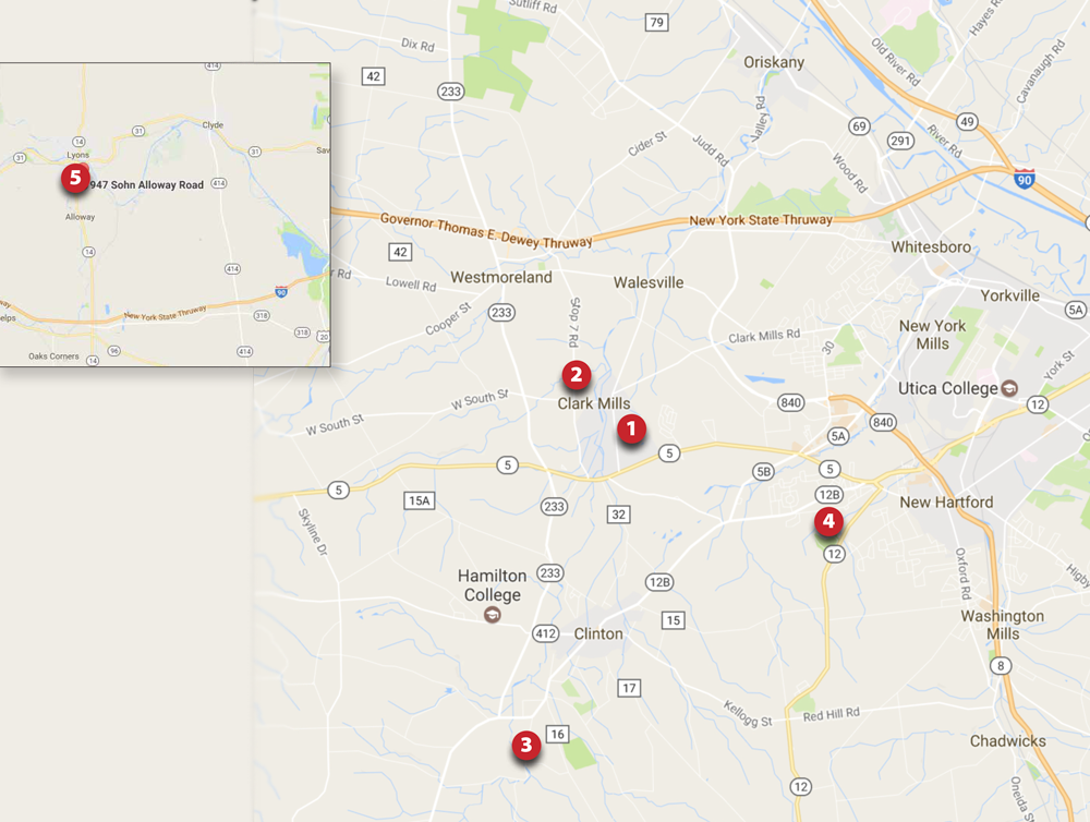 Lewiston Properties Map
